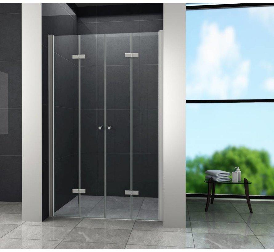 Accor vouwbare douchedeur nisdeur 115x195 cm helder glas