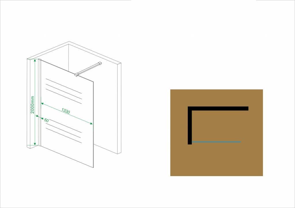 Inloopdouche Met Opzetwastafel : Inloopdouche aqua cm mm veiligheidsg sanidream