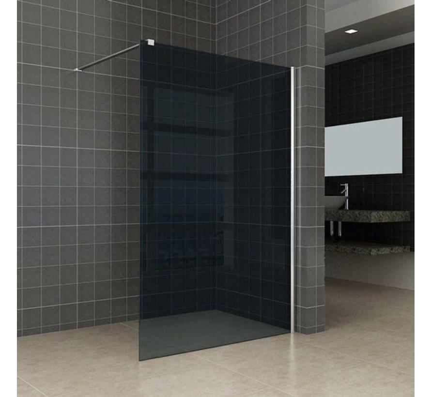 Aqua-DarkInloopdouche 100x200 cm 10 mm donker glas