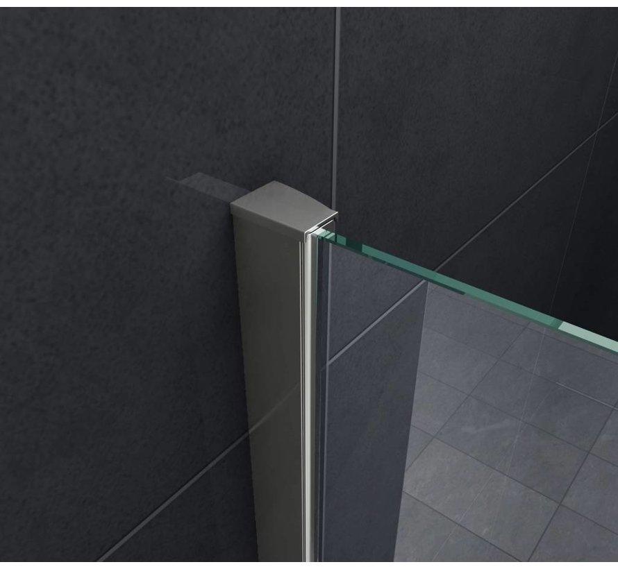 Aqua-Eco Inloopdouche 80x200 cm 8mm helder glas