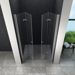 Accor vouwbare douchedeur 80x195 cm nisdeur helder glas