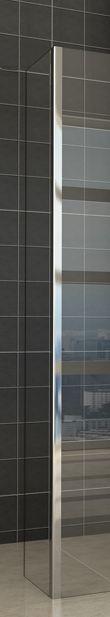 Zijwand met hoekprofiel 30 x 200 x 1 NANO glas
