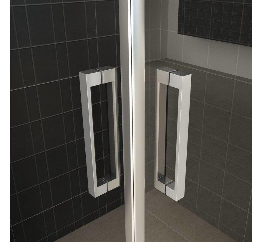 Twice douchecabine hoekinstap met dubbele draaideur 90x90x200 cm