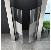 Swing-Cover Douchedeur 80x195 cm Pendeldeur Gedeeltelijk Matglas