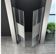 Swing-Cover Douchedeur 75x195 cm Pendeldeur Gedeeltelijk Matglas