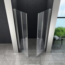 Swing douchedeur 90x195 cm met pendeldeuren – helder glas