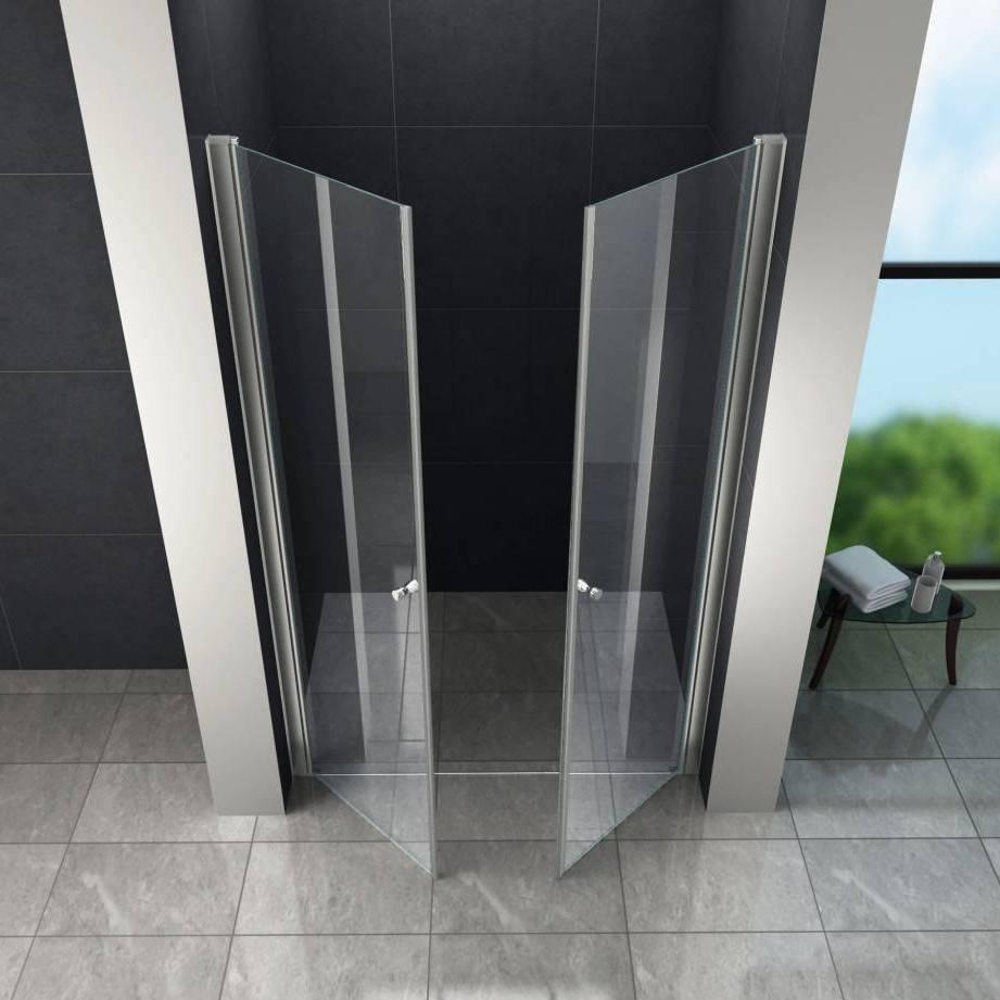 Douchedeur In Glas.Rheiner Swing Douchedeur Pendeldeur 80x180 Cm Helder Glas