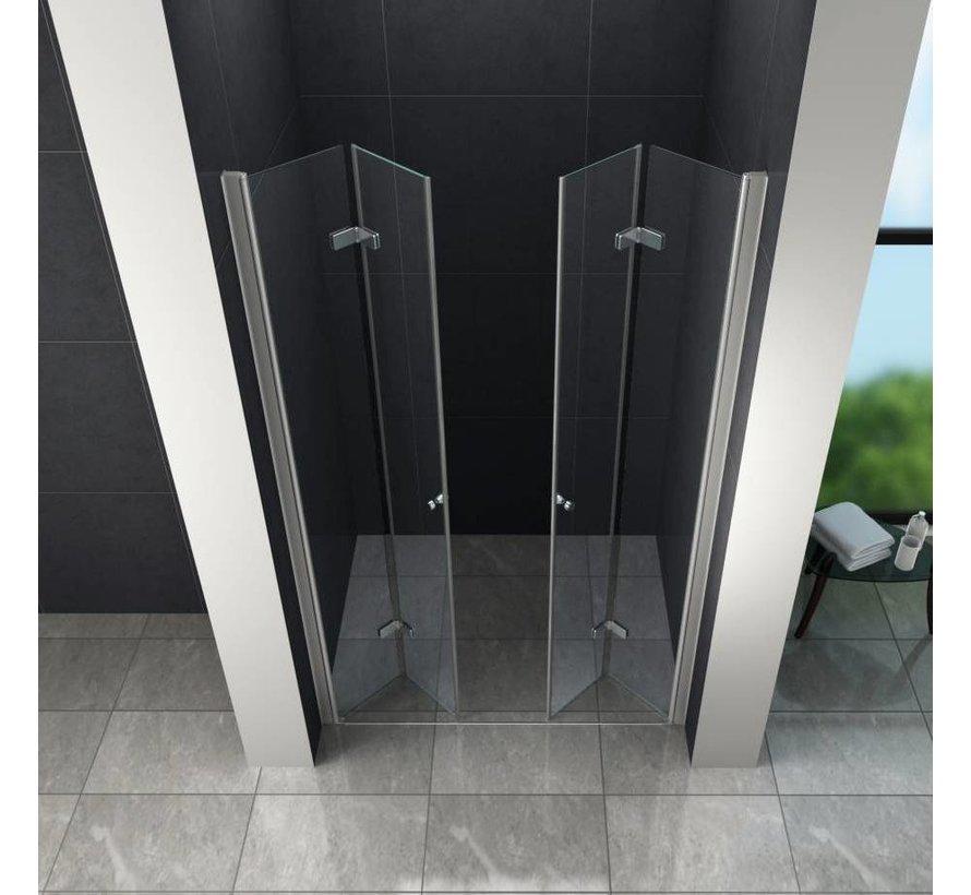 Accor vouwbare douchedeur nisdeur 105x195 cm helder glas