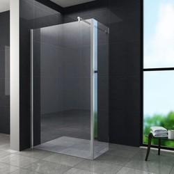AQUA-ECOInloopdouche met zijwand 80x30x200 cm helder glas