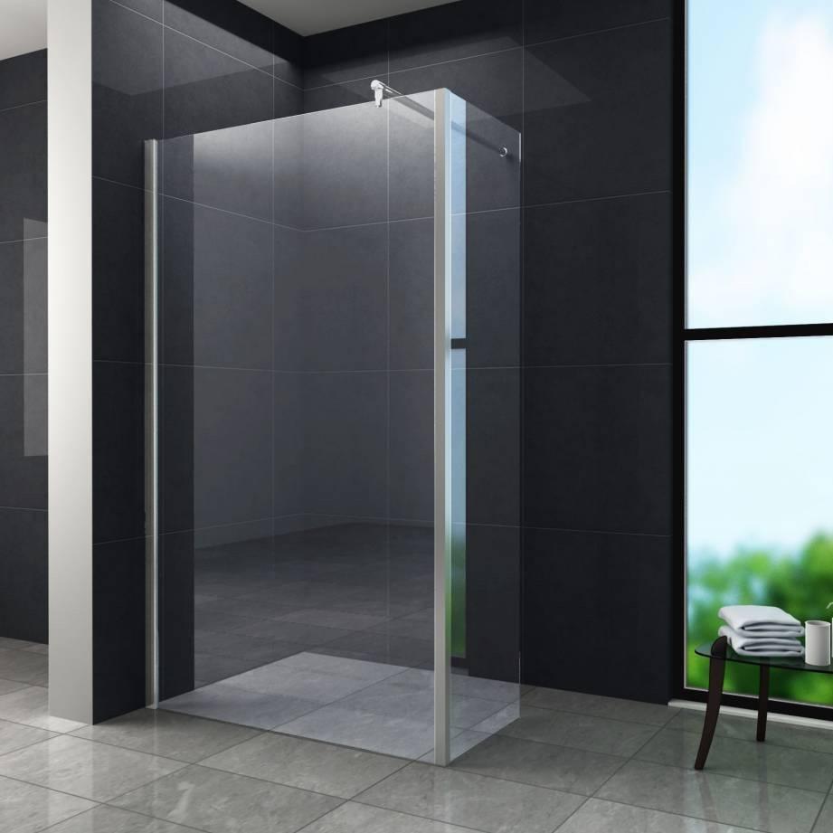 Aqua-EcoInloopdouche met zijwand 100x30x200 cm helder glas