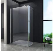 Aqua-EcoInloopdouche 120x30x200 cm met zijwand helder glas