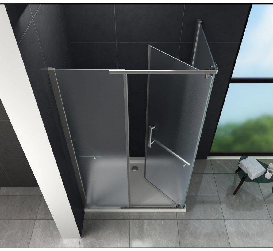 Cira Douchecabine matglas met draaideur 100x80x195 cm
