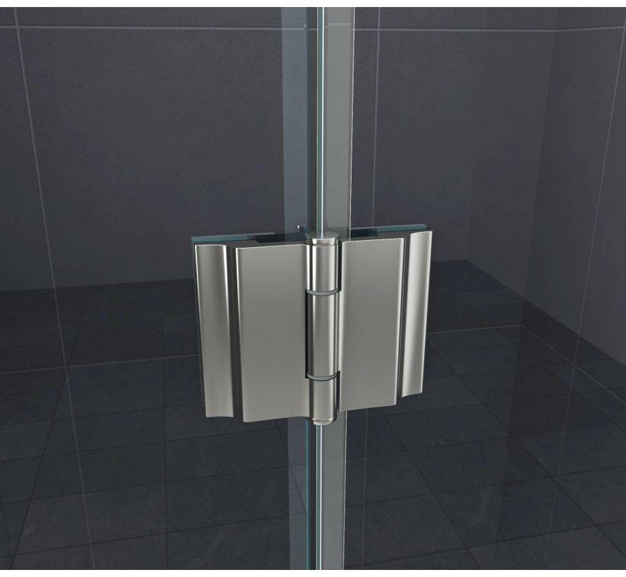 Carna-Cover douchecabine gedeeltelijk matglas hoekinstap  80x80x195 cm