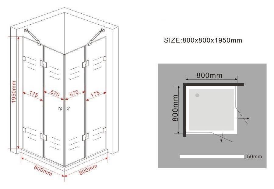 Douchecabine 80 X 80.Luxor Douchecabine Hoekinstap 80 X 80 X 195 Frame Loze Glas