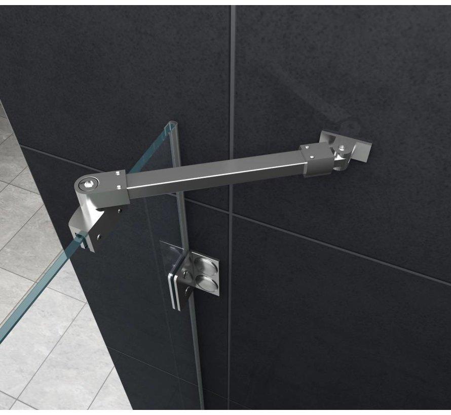 Luxor Douchecabine hoekinstap 120x120x195 cm - frame loze glas