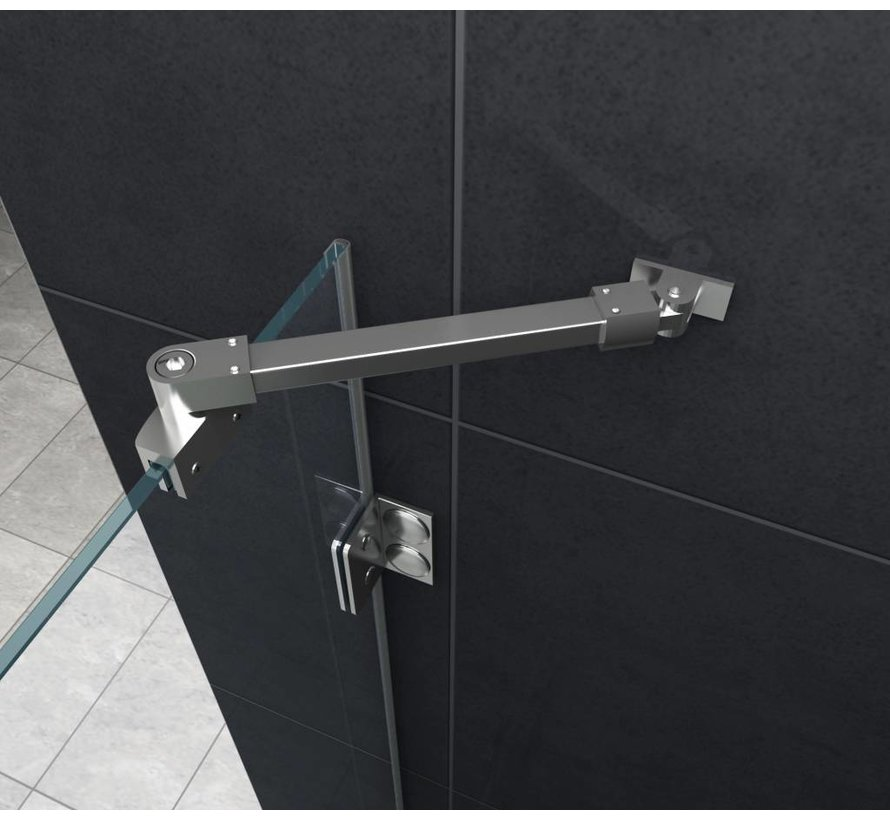 Luxor Douchecabine 120x80x195 cm hoek instap frameloos glas
