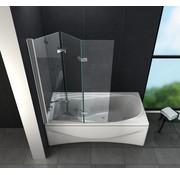 Floyd 130x140 cm bad douche wand vouw deuren helder glas