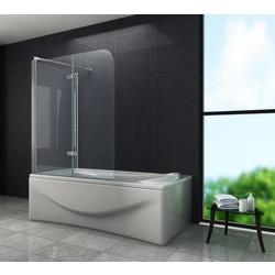 ROUND 80 cm hoek vouwdeur douchewand voor bad helder glas