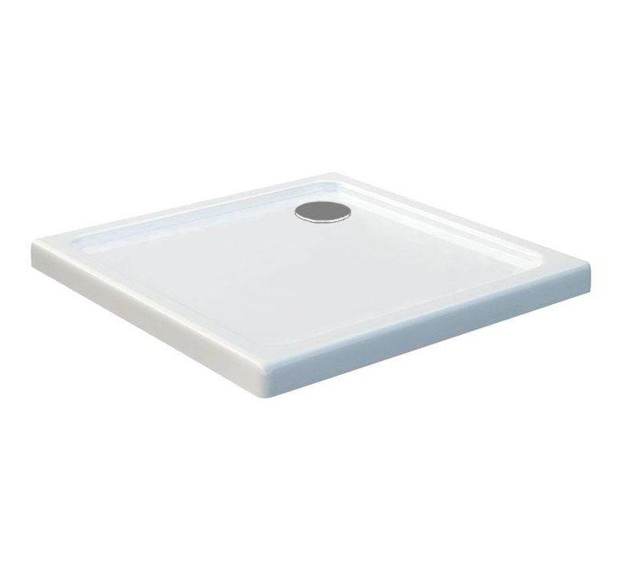 Rheiner douchebak 90x90x5 cm vierkant wit