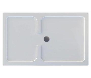 Rheiner douchebak 150x90x5 cm rechthoek wit