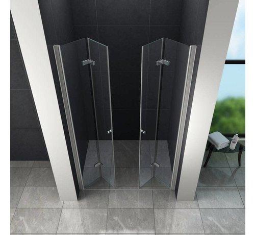 Accor vouwbare douchedeur nisdeur 75x195 cm helder glas
