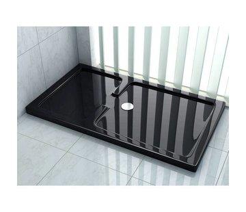 Rheiner douchebak 120x90x5 cm rechthoek zwart