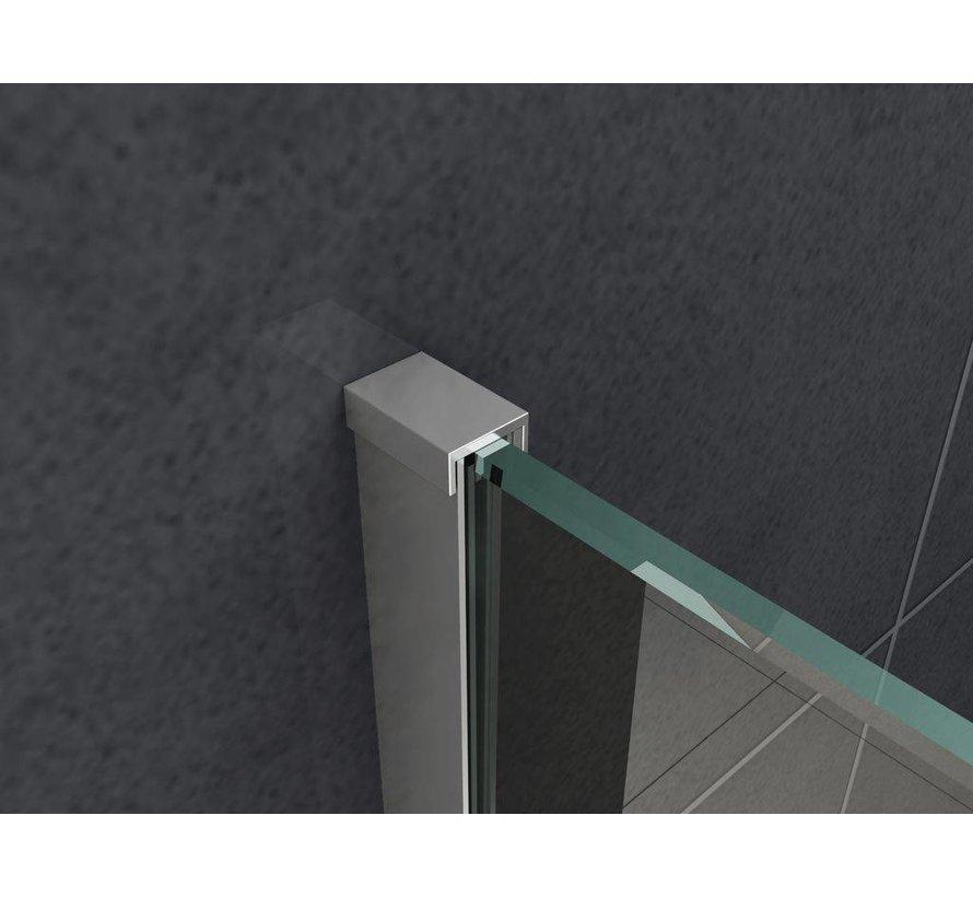 Rheiner inloopdouche met smalle muurprofiel 200 cm hoog