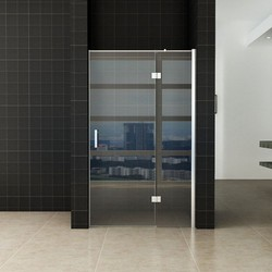 Enter douchedeur 90(60-30) x 200 nisdeur helder glas