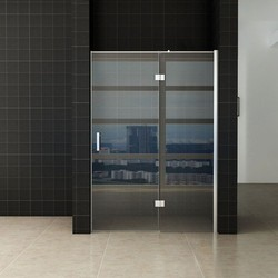 Enter douchedeur 110(60-50) x 200 nisdeur helder glas