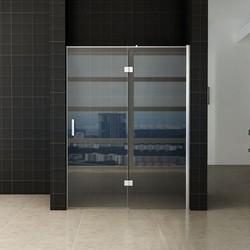 Enter douchedeur 120(60-60) x 200 cm nisdeur helder glas