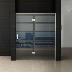 Enter douchedeur 140(60-80) x 200  nisdeur helder glas