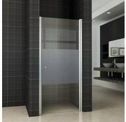 BaseNisdeur met profiel 70x200 cm gedeeltelijk matglas - rechts