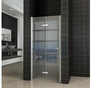 Fold vouwbare douchedeur 100x200 cm nisdeur rechts 8 mm glas