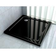 Rheiner zwarte douchebak 80x80 cm vierkant