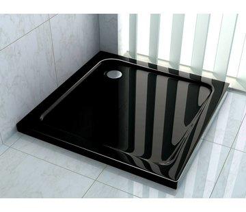 Rheiner zwarte douchebak 90x90 cm vierkant