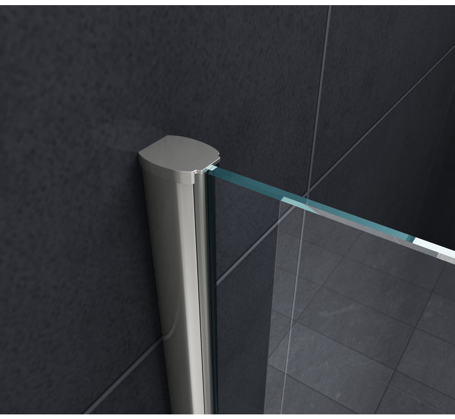 Square Douchewand voor Bad 75x140 cm helder glas