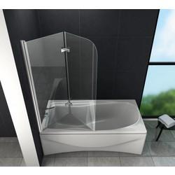 Brize 100x140 cm Bad Douchewand vouwdeur helder glas