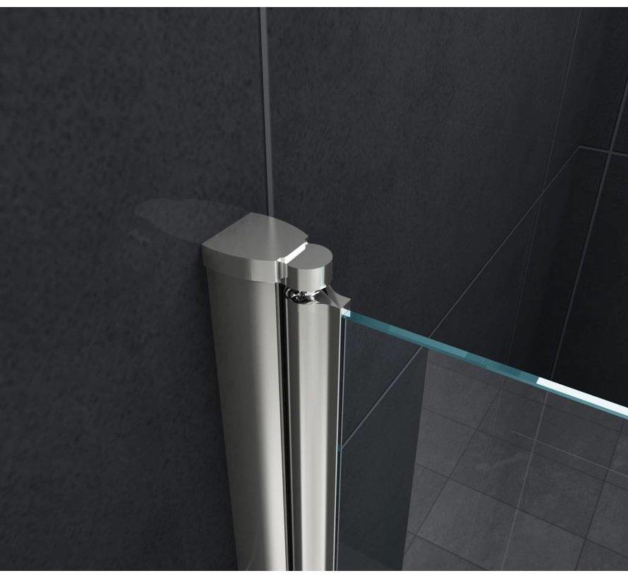 Brize Douchewand vouwdeur voor Bad 100x140 cm helder glas