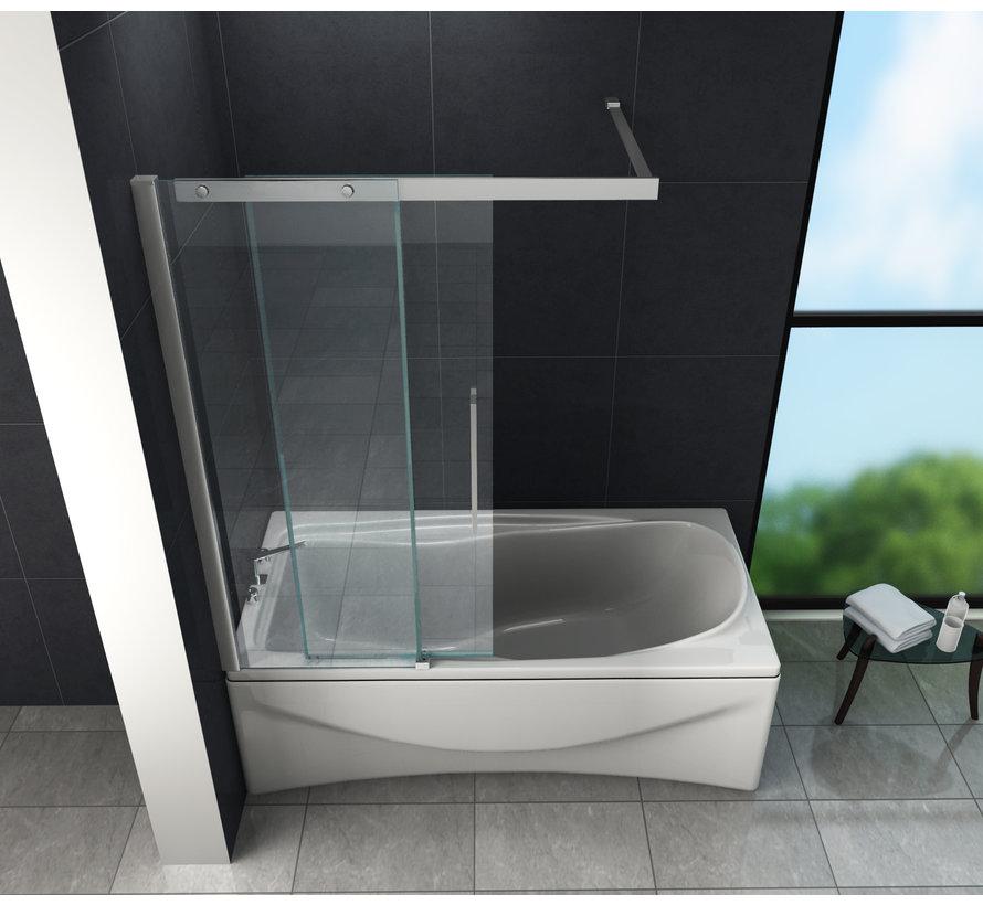 Move Schuifdeur douchewand voor bad 120x150 cm helder glas