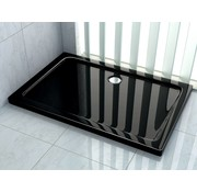 Rheiner douchebak 90x80x5 cm rechthoek zwart
