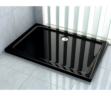 Rheiner douchebak 90x75x5 cm rechthoek zwart