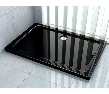 Rheiner douchebak 120x80x5 cm rechthoek zwart
