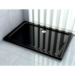 Rheiner douchebak 120x100x5 cm rechthoek zwart