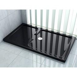 Rheiner douchebak 150x90x5 cm rechthoek zwart