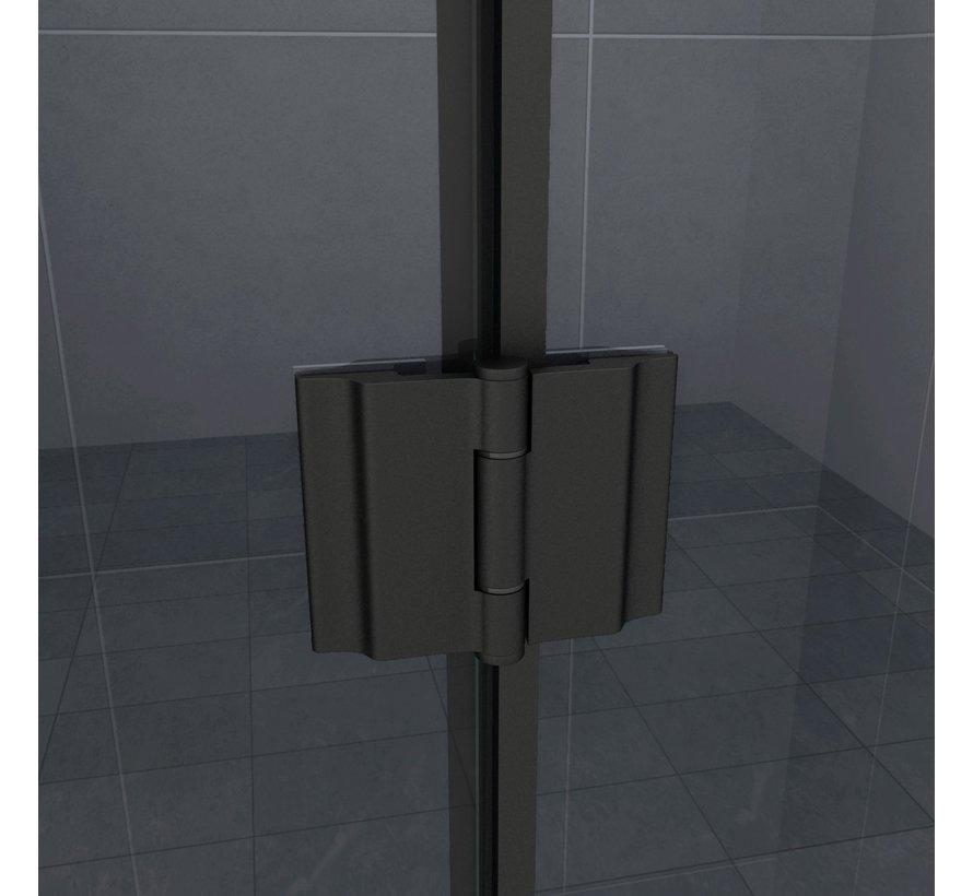 Novia douchecabine zij instap rechthoek 90x75x195 cm - matzwart