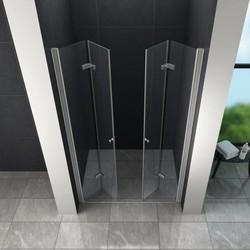Accor vouwbare douchedeur 125x195 cm nisdeur helder glas