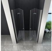 Accor vouwbare douchedeur 130x195 cm nisdeur helder glas
