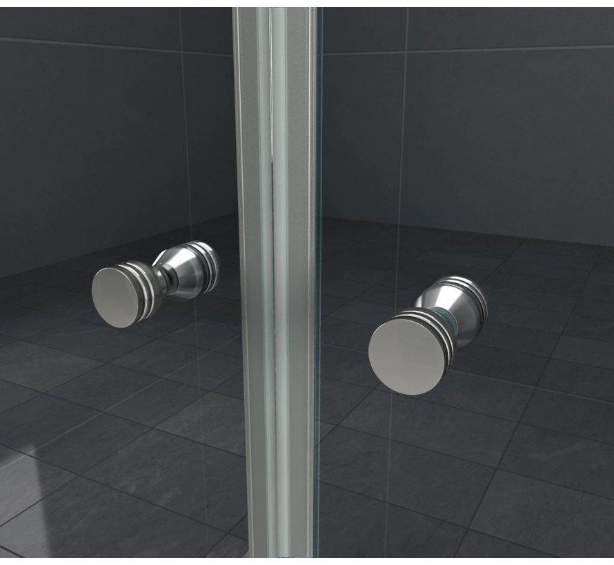 Accor vouwbare douchedeur nisdeur 135x195 cm helder glas