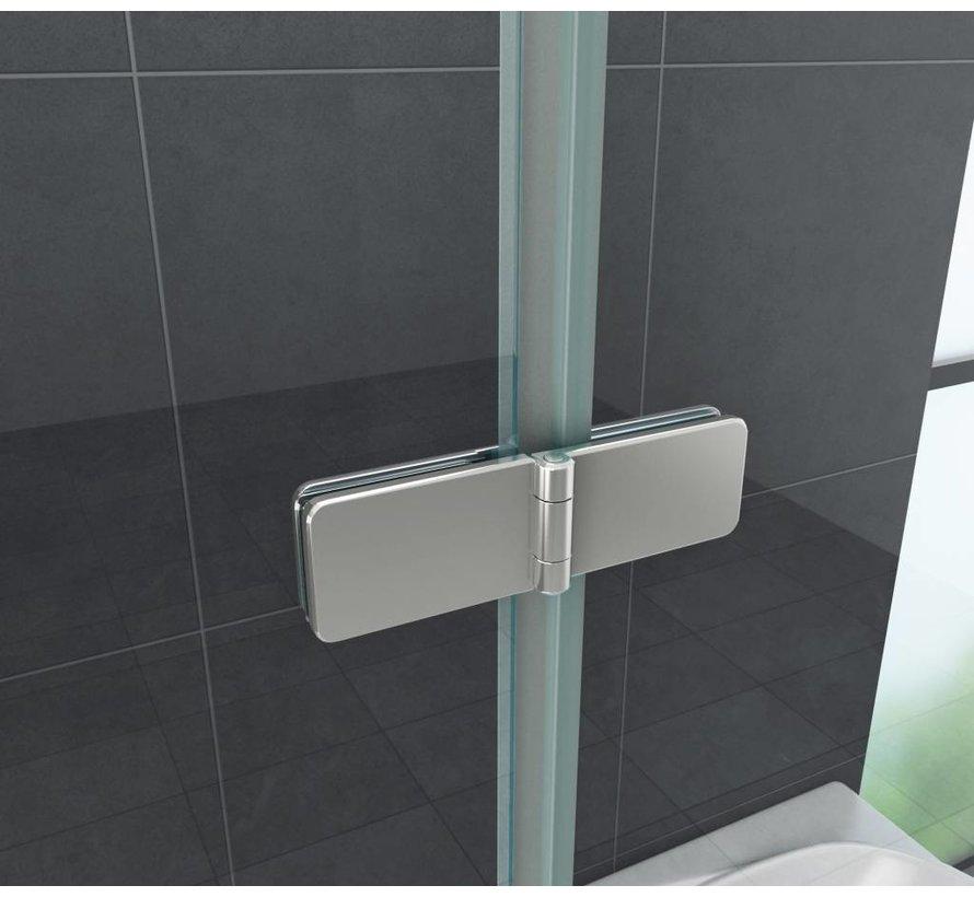Accor vouwbare douchedeur nisdeur 140x195 cm helder glas