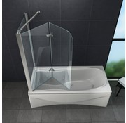 Round 70 cm hoek vouwdeur douchewand voor bad helder glas